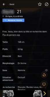 Grindr Informations Profils