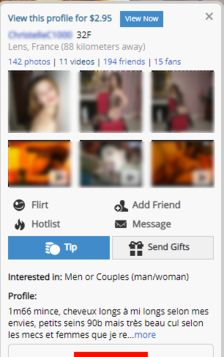 AdultFriendFinder Information de Profil